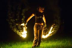 Demostración Tribo Fuego del fuego Imágenes de archivo libres de regalías