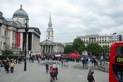 Demostración turca en el cuadrado de Trafalgar Foto de archivo libre de regalías