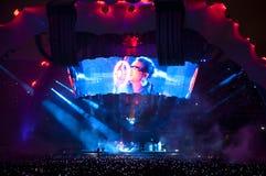 Demostración U2 360 en el Brasil Fotos de archivo
