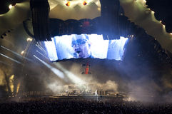 Demostración U2 360 en el Brasil Imágenes de archivo libres de regalías