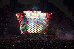 Demostración U2 360 en el Brasil Fotos de archivo libres de regalías