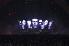 Demostración U2 360 en el Brasil Fotografía de archivo libre de regalías