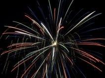 Demostración V de los fuegos artificiales Fotos de archivo libres de regalías