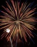 Demostración VII de los fuegos artificiales Imagen de archivo libre de regalías