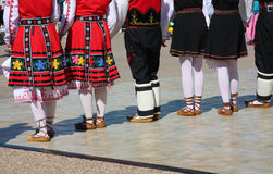 Demostración de la danza popular Foto de archivo libre de regalías