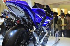 Demostración de motor de Yamaha YZR-M1 Tokio Foto de archivo