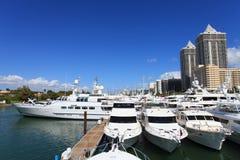 Demostración del barco de Miami Beach Imagen de archivo libre de regalías