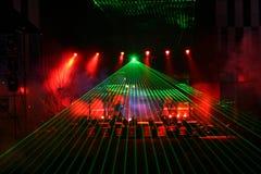 Demostración del laser Fotos de archivo libres de regalías