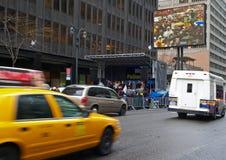 Demostración en la calle de Nueva York Fotos de archivo libres de regalías