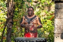 Demostración maya en la selva Imagen de archivo