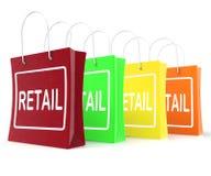 Demostraciones al por menor de los panieres que compran vendiendo ventas de la mercancía stock de ilustración