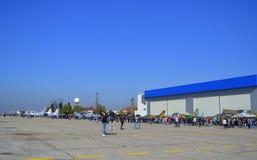 Demostraciones búlgaras de la fuerza aérea Imagen de archivo libre de regalías