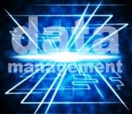 Demostraciones Boss Executive And Business de los datos de gestión Imágenes de archivo libres de regalías