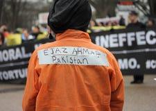 Demostraciones cercanas de Guantánamo Imagenes de archivo