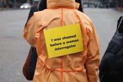 Demostraciones cercanas de Guantánamo Imagen de archivo libre de regalías