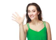 Demostraciones cinco fingeres Imagenes de archivo