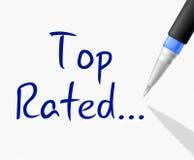 Demostraciones clasificadas superiores número uno y la mejor Imágenes de archivo libres de regalías