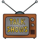 Demostraciones de charla de la TV Imagen de archivo libre de regalías