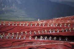 Demostraciones de Lijiang Imágenes de archivo libres de regalías
