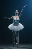 Demostraciones del bailarín y de la etapa de ballet foto de archivo
