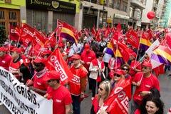 Demostraciones del día de mayo Imagen de archivo