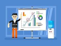 Demostraciones del informe del analista financiero libre illustration
