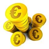 Demostraciones euro Euros Saved And European de los ahorros Foto de archivo