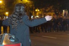 Demostraciones políticas en Hungría 2006 foto de archivo