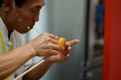 Demostraciones que moldean el azúcar de China Fotografía de archivo
