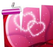 Demostraciones Valentine Day And Dating de los corazones del amor ilustración del vector