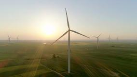 Demostraciones video de las turbinas de viento almacen de metraje de vídeo