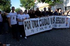Demostraion em favor da segurança em Carmona 76 imagem de stock