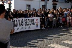 Demostraion em favor da segurança em Carmona 77 fotografia de stock royalty free