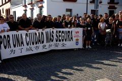 Demostraion em favor da segurança em Carmona 78 fotos de stock