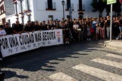 Demostraion em favor da segurança em Carmona 80 foto de stock