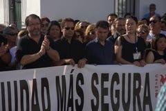 Demostraion em favor da segurança em Carmona 81 imagem de stock