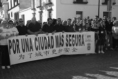 Demostraion in naam van de veiligheid in Carmona 79 stock foto