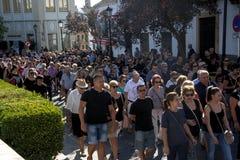 Demostraion w imieniu ochrony w Carmona 25 zdjęcia royalty free