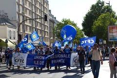 demostration巴黎 免版税库存照片