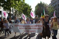 demostration巴黎 库存图片