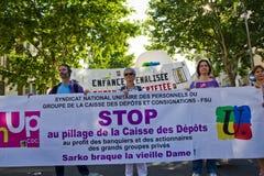 demostration巴黎 库存照片