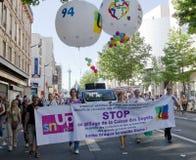Demostration à Paris photos libres de droits