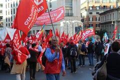 Demostration de syndicat Images stock