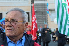 Demostration de syndicat Images libres de droits