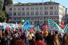 Demostration de syndicat Image libre de droits