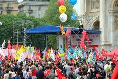 Demostration de syndicat Photographie stock libre de droits