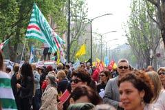 Demostration de syndicat Photo libre de droits
