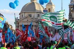 Demostration del sindicato imagen de archivo