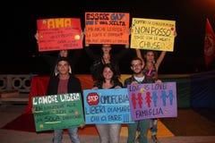 Demostration dos casamentos entre homossexuais Fotografia de Stock Royalty Free