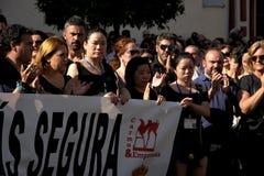 Demostration em favor da segurança em Carmona 90 fotos de stock